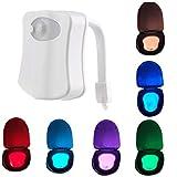XKJFZ 8 Farbe Bewegungs-Sensor-LED WC Automatische Toilettenschüssel Badezimmer Ligh Erkennung