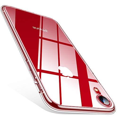 TORRAS Crystal Clear für iPhone XR Hülle, [Dünn] [Anti-Gelb] Handyhülle iPhone XR Case Slim Weiche Silikon Kratzfest Soft Bumper Stoßfest Durchsichtige Schutzhülle iPhone XR-Transparent