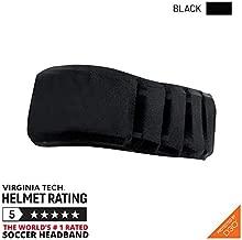 Gamebreaker-Aura (Black, XL/XXL) Protective Soccer Headband Soccer Equipment Injury Prevention Headgear, No-Slip Sports Headwear, World's Protective Soccer Headband Virginia Tech Helmet Labs