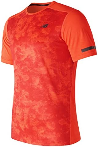 New Balance Camiseta Max Intensity Color Naranja de Hombre