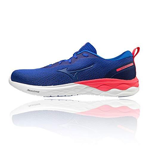 Mizuno Herren Wave Revolt Laufschuhe, Blau/Rosa (Reflex Blue C Reflex Blue C Diva Pink), 40.5 EU