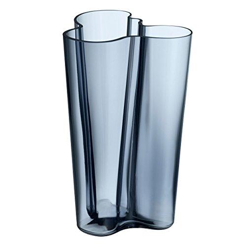 Iittala Vase Aalto 251 mm Blau aus Glas