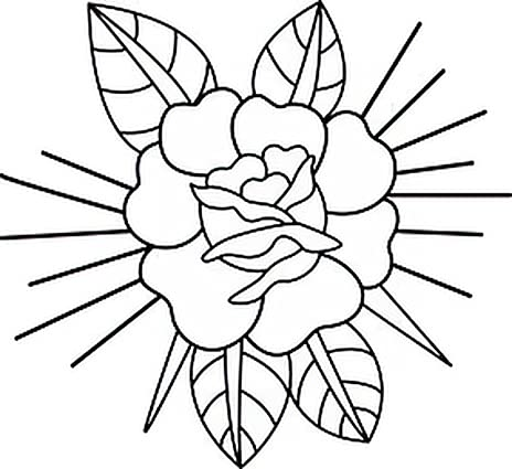 6 New mail order Sheets Temporary Limited price Tattoos Rose School Traditional Old Ar Tattoo