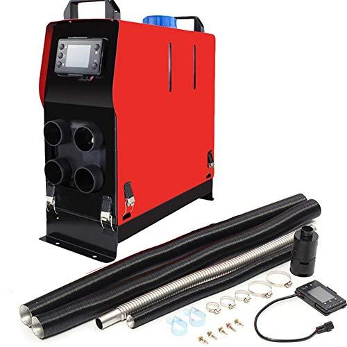 WHWXQ diesel ventilatorkachel 12V 5000W thermostaat LCD met afstandsbediening, schakelaar met LCD-sleutel + geluiddemper (effectieve afstandsbediening: 30M)