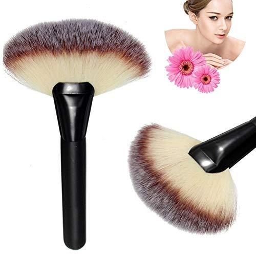 Sytaun Pro Soft Large Poudre en Forme D'éventail Fondation Brosse Visage Correcteur Outil De Maquillage Beauté Brosse Ensemble Brosse Pratique Noir