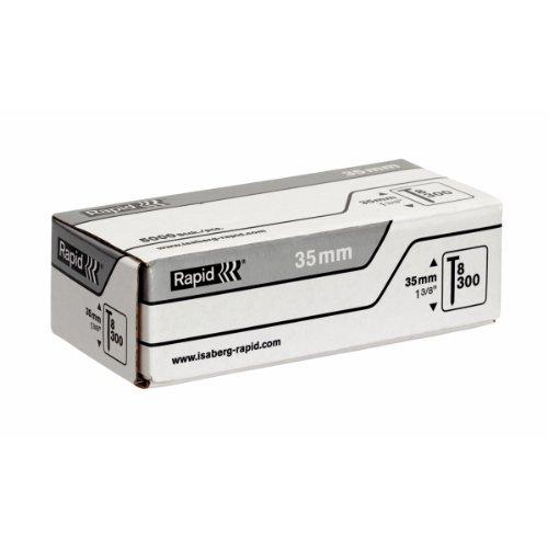 Rapid, 40100534, Pointes N°8, 35mm de longueur, 5000 pièces, Fil galvanisé, Haute performance