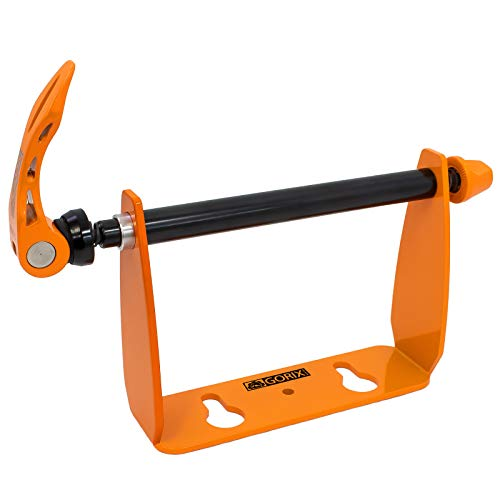 GORIX(ゴリックス) エンド金具 リア用 自転車 [ ロードバイク MTB 鍵穴付き 輪行 自作スタンド 車載 ] 130mm / 135mm リアエンド金具 ホルダー スタンド (SJ-0114) オレンジ