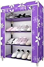Sterling Steel and Fabric Multipurpose Portable 4-Layered Shoe Rack(60x30x75cm, Multicolour)