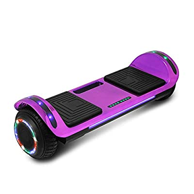 cho Hoverboard Hover Board Electric Scooter Two-Wheel Smart Self Balancing Speaker (Chrome Purple)