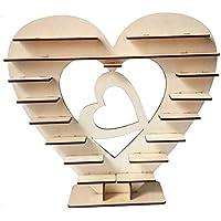 Soporte de madera para exhibir chocolates Ferrero Rocher en forma de corazón para dulces, chocolate, tartas, dulces, decoraciones para banquetes de boda, fiestas, aniversarios Heart