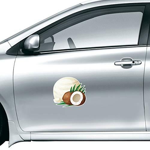 DIYthinker Feuilles de Noix de Coco Crème Glacée Popsicles Autocollant sur Voiture Style Autocollant Moto Autocollants pour Voiture Accessoires Cadeau 20Cm