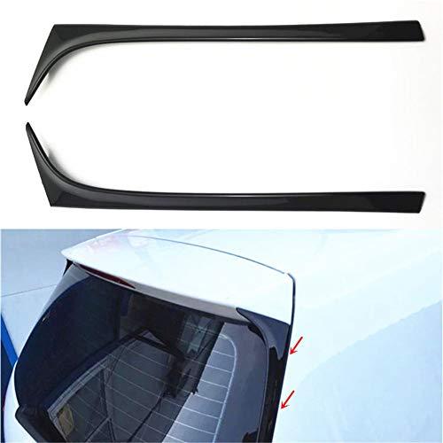 Autospoiler Flügel - 1 Paar Auto Heckscheiben Seitenspoiler für Volkswagen Golf 7 MK7 2014-2017 - Car Styling Trim Außenseite Heckscheibe schmücken Flügel(Schwarz)