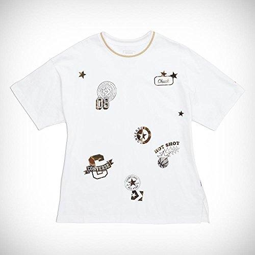 Converse Star Chevron Wordmark LS Tee T-Shirt, Herren, Grau (Vintage Grey Heather) M grau (Vintage Grey Heather)
