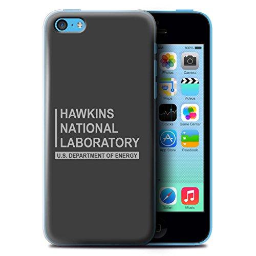Stuff4® hoes/case voor Apple iPhone 5C / grijs patroon/Hawkins nationale laboratorium collectie