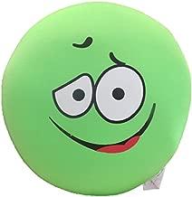 Tache I'm Sick of Green Fun Emoji Smiley Expressive Faces Squishy Microbead Throw Lounge Pillow Cushion