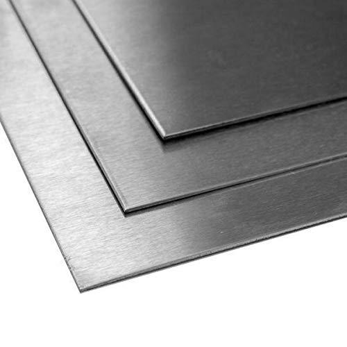 Titanblech 1mm 3.7035 Grade 2 Platten Bleche Zuschnitt 100x700mm