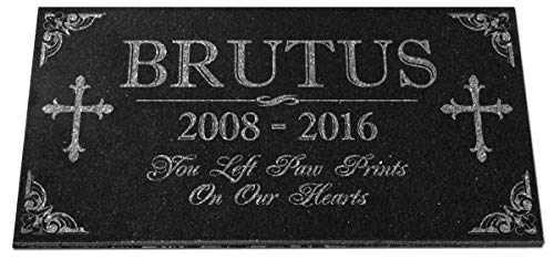 Pet Memorial Stones Personalized Granite Dog Cat Horse Crosss Gravestone Garden Pet Grave Markers