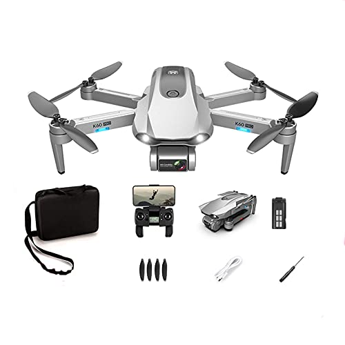 Soolike K60 Pro Drone con Cámara 6K GPS,Dron WiFi FPV por Control Remoto,Enfoque 50 Veces,Transmisión de Imagen 5G HD,Seguimiento Automático,Equipado con VR,Experiencia 3D,Vuelo Balístico,1 x Batería