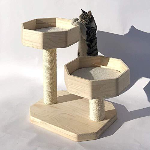 Cxjff Arena for Gatos Gato Que Sube Madera Maciza pequeño Gato de sisal Gato rascador Gato casero Gato Escalada Estante for Gatos Arena for Gatos