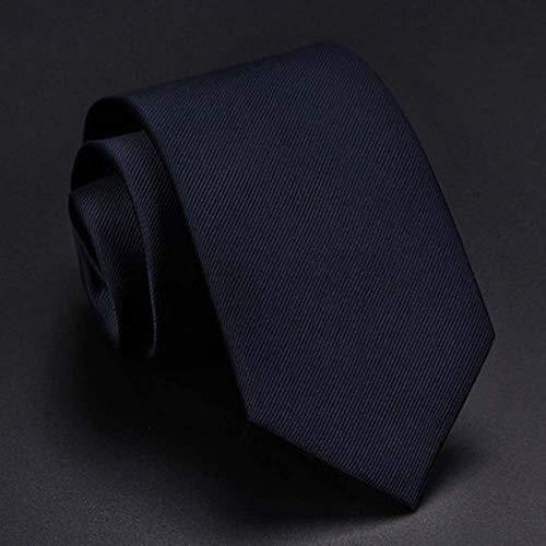 MKXF Seidenkrawatte Männlich Kleid Geschäftskarriere Klasse Student Schwarzer Anzug Korean Lässige Hochzeit Blaue Krawatte,T