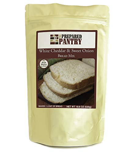 The Prepared Pantry White Cheddar and Sweet Onion Bread Mix; Single Pack; For Bread Machine or Oven