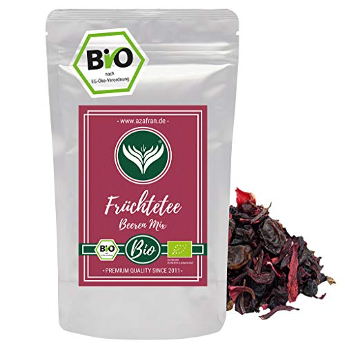 Azafran BIO Früchtetee Rote Beeren Mix lose 250g