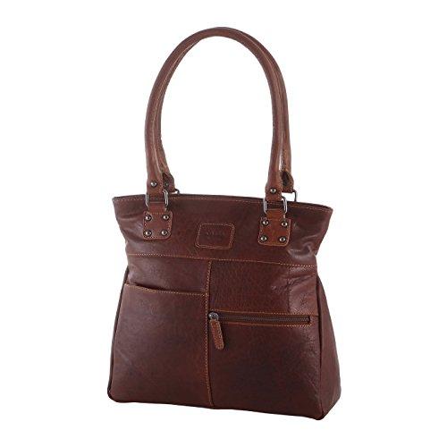 Rada Nature Kurzgrifftasche Douglas echt Leder Handtasche in verschiedenen Farben (sandal/tan)