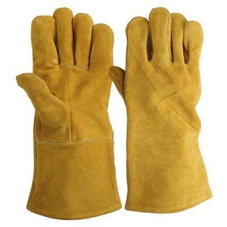 Surex Leather Heat Resistance Gloves Cut Resistance Gloves Welding Gloves(Yellow)