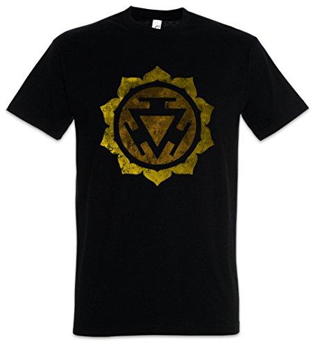 Urban Backwoods Chakra Manipura Camiseta De Hombre T-Shirt Negro Talla M