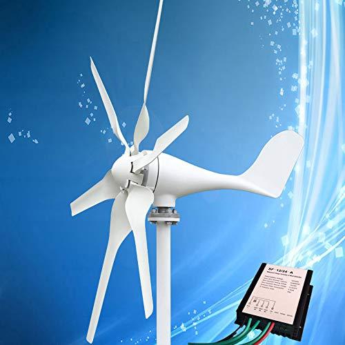 Windgenerator 400W Windkraftanlage mit 6PCS Blades + Windgenerator Laderegler, für Marine und Land
