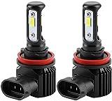 Vechkom H11 LED Headlight Bulbs Fog Light, Fanless 3570 CSP Chips Fog Lamp 3000 Lumens 6000K Xenon White Extremely Bright Conversion Kit 120W