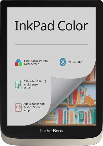 PocketBook e-Book Reader \'InkPad Color\' (16 GB Speicher, 19,8 cm (7,8 Zoll) E-Ink Kaleido Plus Farb-Display, Vordergrundbeleuchtung, Wi-Fi, Bluetooth) Moon Silver
