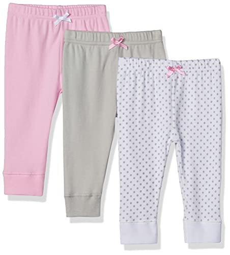 Product Image of the Luvable Friends Baby Cotton Pants, Gray Dot, 0-3 Months