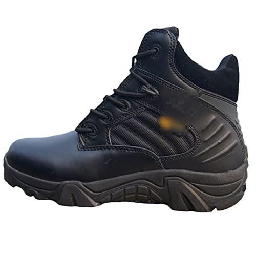 Zapatos de cuero de invierno de los hombres botas de nieve impermeables botas de combate militares zapatos deportivos tácticos militares botas de tobillo