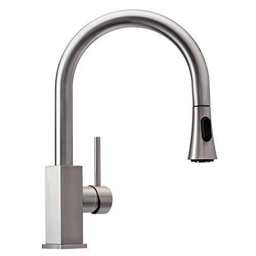 Wasserrhythm Stainless Steel Kitchen Sink Faucet with Pull Down Spray Head Single Lever...