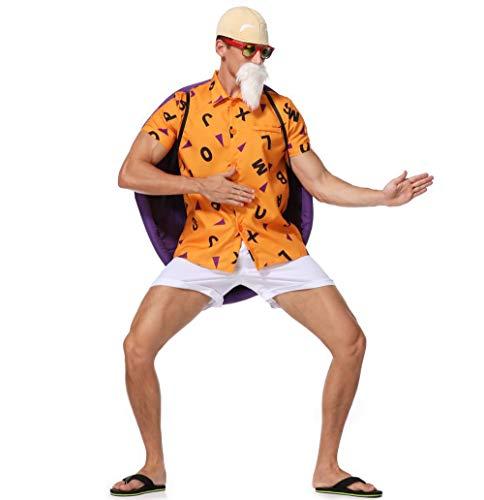 HJG Dragon Ball Z Master Disfraz de Ninja con Concha de Tortuga, Cosplay, Disfraz de Anime para Halloween