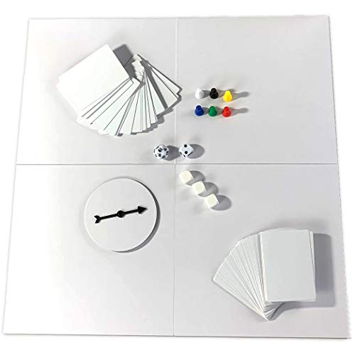 DIY Board Game Studio - Do-It-Yourself Kit with Blank Double-Sided Board, Cards, and Dice - Design...