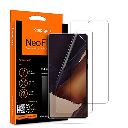 Spigen, 2Pezzi, Pellicola Samsung Galaxy Note 20, NeoFlex, TPU, Applicazione Bagnata, Custodia Compatibile, Alta Reattività, Anti-graffio, Pellicola Protettiva Samsung Galaxy Note 20