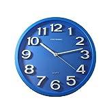 Metronic 477323 - Reloj de Pared, Movimiento de Cuarzo, diámetro 330mm, Grosor 55mm, Azul
