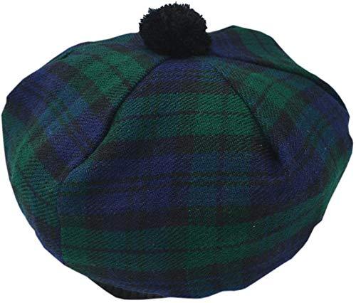 Scottish Kilt Tam O' Shanter Acrylic Wool Tammy Hat One Size Various Tartans (Black Watch Tartan)