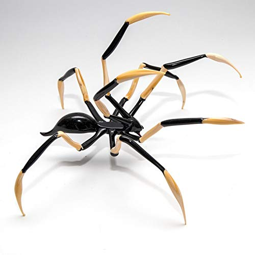 CRISTALICA Spinne Big 15-17cm Glas Tiere Insekt Figuren Sammeln Vitrine Dekoration