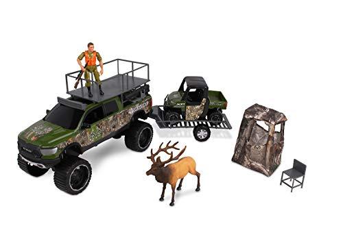 NKOK 1: 18 Realtree 10Piece Deluxe Ram 1500 Rebel & Polaris Ranger Elk Hunting Playset