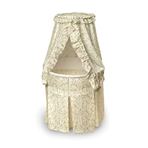 Badger Basket Company Empress Round Baby Bassinet