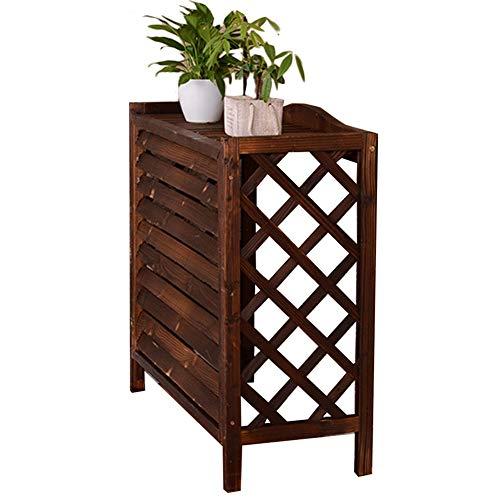 Blumenregal Blumenständer Carbonized Wood Plant Stand, Outdoor Blumentöpfe Display Regal, Sichtschutz Versteckt Klimaanlagenabdeckung, Winddicht Langlebig ( Size : 100x43x94CM(39.4x16.9x37.8 inch) )
