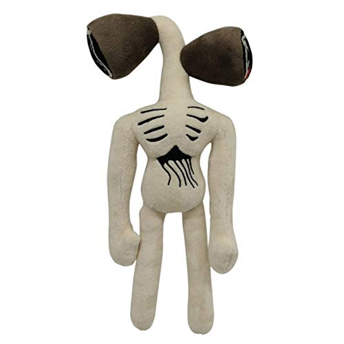 Jiutian 35cm Horror Siren Head Peluche de Juguete Anime Dibujos Animados Figura de Peluche Blanco Negro SirenHead Doll Niños Regalos (Color : Black 35cm)