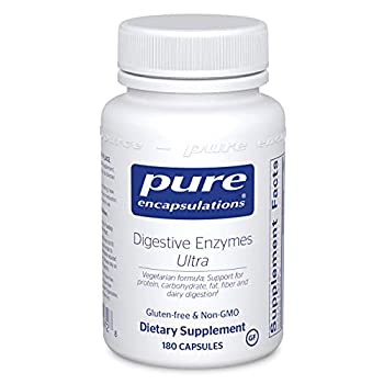 Pure Encapsulations Digestive Enzymes Ultra   Supplement to Aid in Breaking Down Fats Proteins and Carbohydrates for Digestion*   180 Capsules