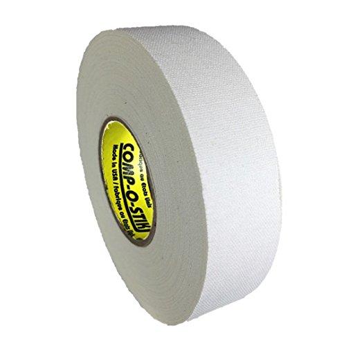 Comp-O-Stik ATHLETIC TAPE (Hockey Lacrosse Stick Tape, Baseballschläger Tape), hergestellt in den USA, weiß, 1