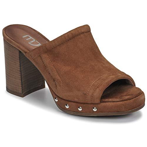 Mjus Apertariv Pantoletten/Clogs Damen Camel - 37 - Pantoffel Shoes