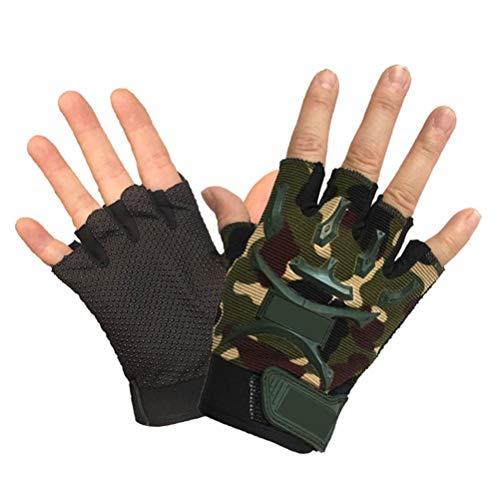 LIOOBO 1 par de guantes de camuflaje para niños y niños, guantes de ciclismo para exteriores