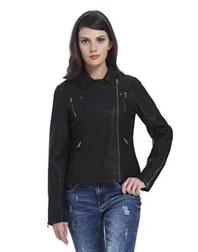 ONLY Damen onlMADDY Faux Leather Biker CC OTW Jacke, Schwarz (Black Black), 36